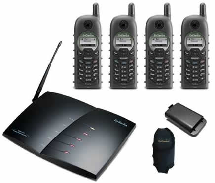 DuraFon Pro 4-line long range wireless phone system complete with 4 DuraFon Pro handsets