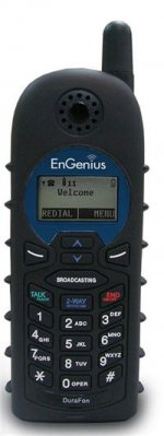 EnGenius DuraWalkie 1X and DuraWalkie PRO 2-way radio only handset for EnGenius DuraFon PRO long range cordless wireless phone system