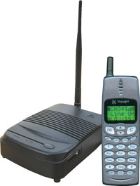 Voyager long range wireless phone system cordless phones