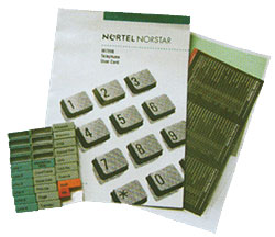 Norstar button packs user guides quote Nortel