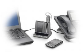 Plantronics Savi W740 connectivity to desk phone, PC, and mobile phone Bluetooth