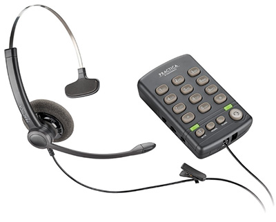 Practica T110 single-line headset phone system from Plantronics