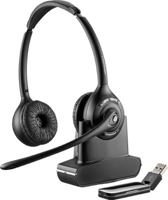 Plantronics Savi W420 wireless phone headset cordless telephone headset