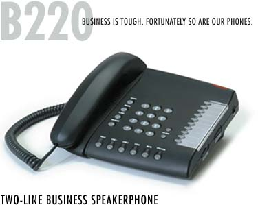 B220 2-line PBX phone set two lines pbx phone sets telephone universal Meridian Mitel Avaya NEC