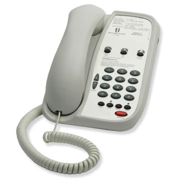 Teledex I Series A103 single line guest phone with 3 programmable guest service buttons