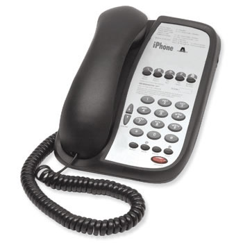 Teledex I Series A105 single line guest room phone with 5 programmable guest service buttons