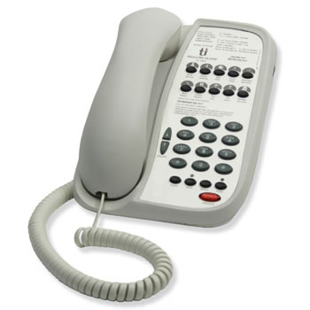 Teledex I Series A110 single line guest room phone with 10 programmable guest service keys