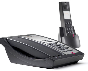 Telematrix 9602 MWD10 DECT cordless phone two-line 10 guest services buttons