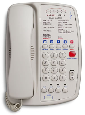 TeleMatrix 3000MW5 Hotel Phone