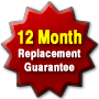 We offer a 12 month replacement guarantee on the products we sell.